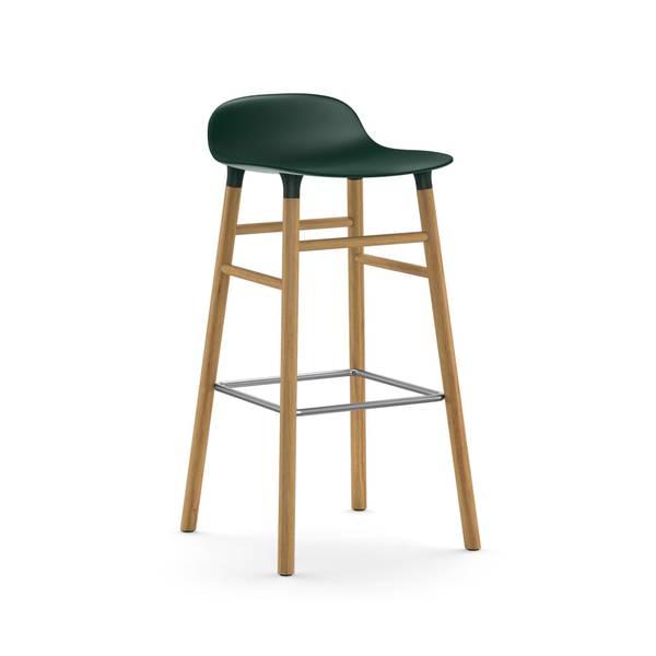 Bilde av Form Barstool 65 cm Oak - Green