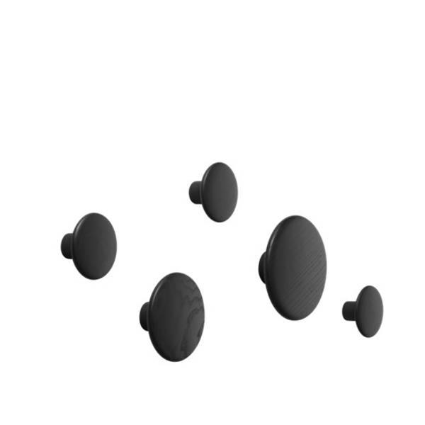 Bilde av Muuto The Dots knagg 5-pk - Svart